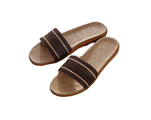 Coffee for Toe Lightweight Slippers Flax Slipper Breathable Open Sandals House Unisex Home HomyWolf Summer Znx4Oq4