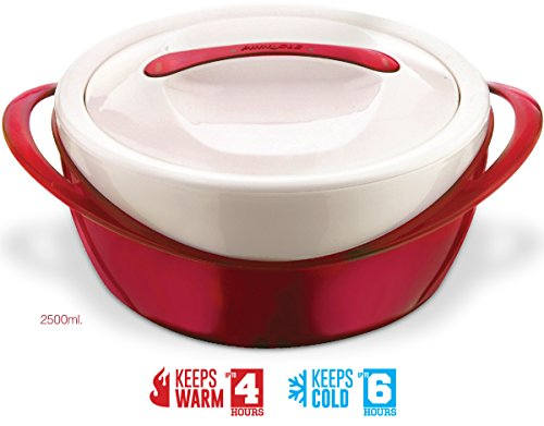 Pinnacle Casserole Dish - Large Soup and Salad Bowl - Insulated Serving Bowl With Lid - Red price tips cheap