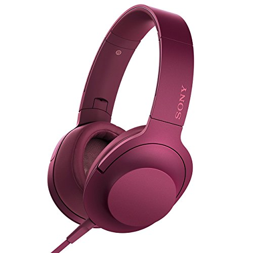 Sony Pink Noise Canceling Headphone (Sony h.ear on Premium Hi-Res Stereo Headphones (wired), Bordeaux Pink)