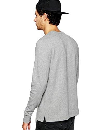 Graues Sweat-Shirt ohne Kapuze für Mann Sharkers®