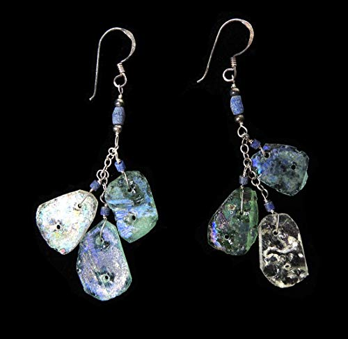 Ancient Roman Glass Earrings Beads Afghanistan