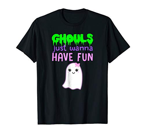 Halloween Pun Shirt Girls Women GHOULS JUST WANNA HAVE FUN