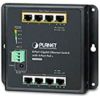 WGS-804HP 8-Port 10/100/1000T Wall Mounted Gigabit Ethernet Switch with 4-Port PoE+