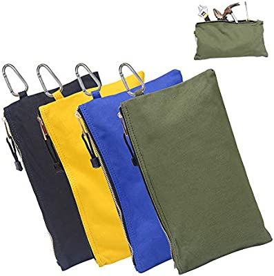 6f870b987 HRX Package Canvas Tool Zipper Pouches, 4pcs Heavy Duty Tool Bags Sturdy  Utility Bags with
