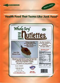 (Dixie Carb Counters Whole Soy Nutlettes Soy Cereal New 2lb Container)