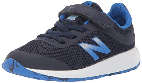 New Balance Boys' 455v2 Running Shoe, Navy/Vivid Cobalt, 9 M US Toddler