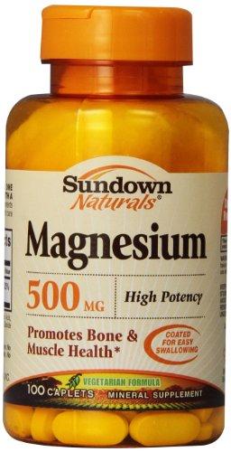 Sundown Naturals Magnesium Caplets, 500 mg, 100 Count