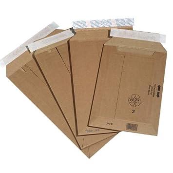 500 X Cajas de Cartón bolsillos, dimensiones exteriores: 167 X 268 mm: Amazon.es: Oficina y papelería