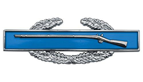 (Shadow Six Romeo Military Army Chrome Metal Decal Auto Emblem (Combat Infantry Badge))