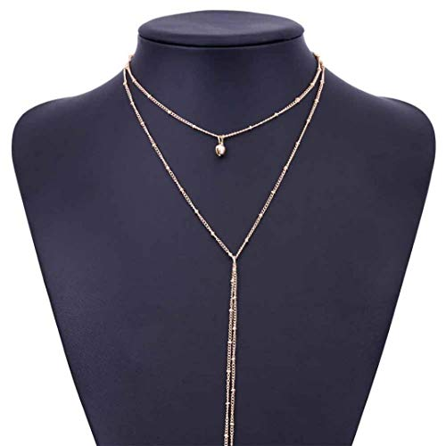 Xhalery Delicate Necklace Fashion Choke Trendy Jewelry for Women ()