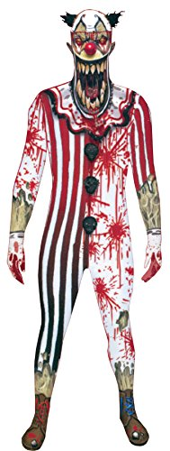 UHC Men's Zombie Clown Jaw Dropper Morphsuit Horror Theme Halloween Costume, XL ()
