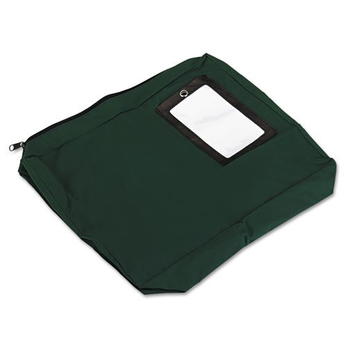 Expandable Dark Green Transit Sack, 14w x 11h x 3d by PM Company