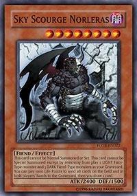Yu-Gi-Oh! - Sky Scourge Norleras (FOTB-EN022) - Force of the Breaker - Unlimited Edition - Secret Rare -