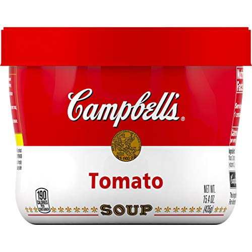 Campbell's Tomato Soup Microwavable Bowl, 15.4 oz. (Pack of 8) ()