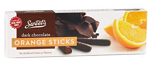 Sweet's Dark Chocolate Orange Sticks, 10.5oz Box by Sweet's [Foods] - Chocolate Sweet Jelly