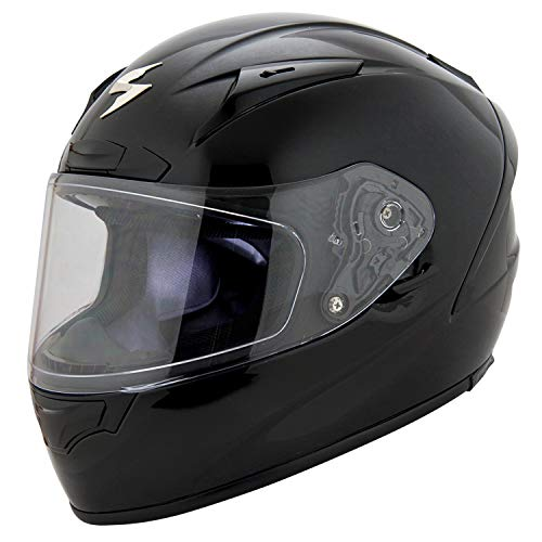 Scorpion EXO Unisex Adult EXO-R2000 Gloss Black Full Face Helmet 200-0034