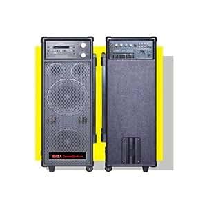 Ibiza Sound - Sistema Portátil de Megafonía Y Karaoke Con Cd, Usb/Mp3/Mp4 Y Vhf Microfono Port8Dvd