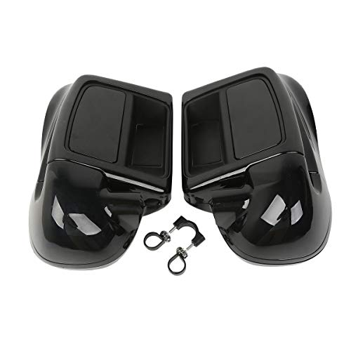 (TCMT Black Glove Box Lower Vented Leg Fairings Fits For Harley Touring Electra Glide Road King 2014 2015 2016 2017)