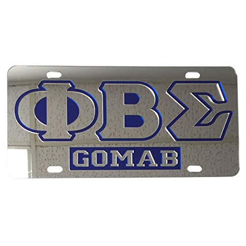 Desert Cactus Phi Beta Sigma License Plate Car Tag for Front Back of Car Divine 9 Nupe igma(Car Tag - 7609)