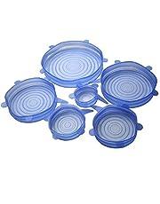 اغطية مطاطية من السيليكون للطعام الطازج، 6 قطع باحجام مختلفة