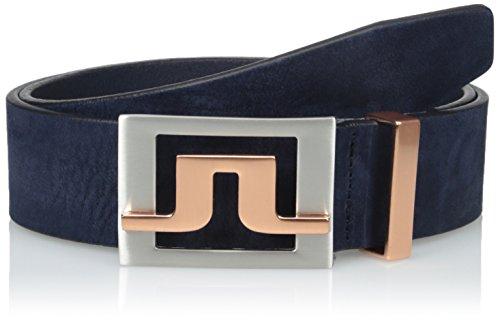 J Lindeberg Slater Belt (J.Lindeberg Men's Slater 40 2.0 Brushed Leather Golf Belt, Navy/Purple,)