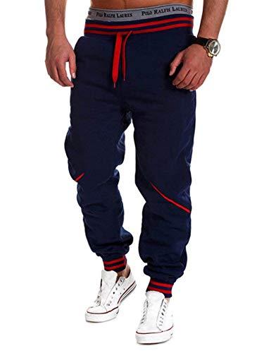 Exercise Air Longue Automne Casual Haidean Formation Hommes Leisure Blau En Pantalons Printemps Pour Dark De Plein Sport Relaxed xYwqPYZ0
