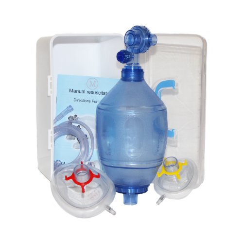 MCR Medical Supply BVM-3081-001 PVC (Polyvinyl Chloride) Adult/Child Training Bag Valve Mask (BVM) in Plastic Carry - Polyvinyl Plastic Chloride