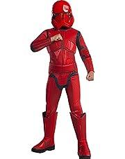 Rubie's Officiële Disney Star Wars Ep 9, Rood Stormtrooper Deluxe Kostuum, Kindergrootte Grote Leeftijd 8-10 Jaar