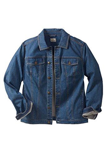 Liberty Blues Men's Big & Tall Denim Jacket, Blue Wash Tall-L