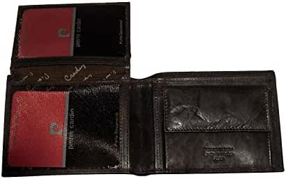 Wallet man PIERRE CARDIN moro in leather with coin purse and flap A3612