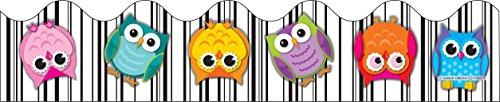 - Carson Dellosa Colorful Owls Scalloped Borders (108277)