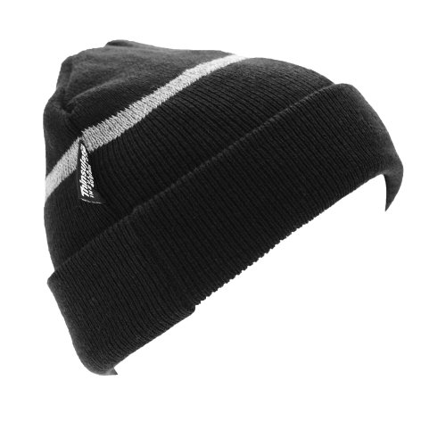 Result Childrens Big Boys Wooly Thermal Ski/Winter Hat with Reflective Woven Threaded Band (One Size) (Black)