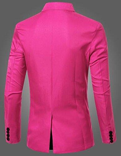 Solid Blazer Men's Breasted Blazers Double 1 Suit Sport Button Casual TTYLLMAO Jacket TIWdqnU0Iv