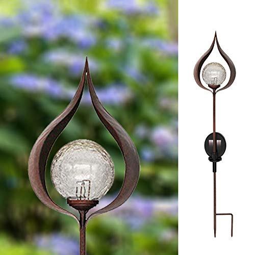 WOLUNWO Outdoor Garden Solar Lights, Decorative Flame Shaped LED Solar Powered Stake Lights for Walkway, Pathway, Yard…