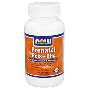 NOW Foods Prenatal Gels + DHA Multiple Vitamin & Mineral