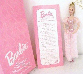Porcelain Doll Ornament - Barbie As Sugar Plum Fairy Porcelain Avon Christmas Ornament