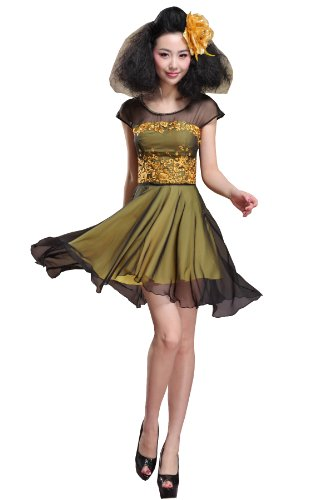fashion dress dress summer Khaki lady Europe Colorfulworldstore overall 54cFFR