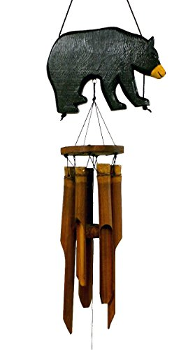 Cohasset Gifts | | | # 171BBS | Cohasset Black Bear Silhouette Bamboo Wind Chime