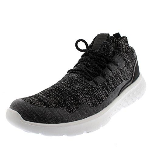 Kvinnor Vadderad Kör Lätta Walking Sock Gym Fitness Sneakers Grå / Vit