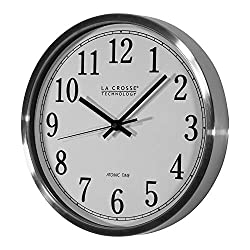 Professional house WT-3126B La Crosse Technology 12 Stainless Steel Frame Atomic Analog Wall Clock