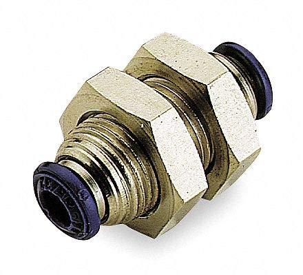 AIGNEP USA 88050-08 Bulkhead Union, 1/2'' Tube (Nickel Plated Brass)
