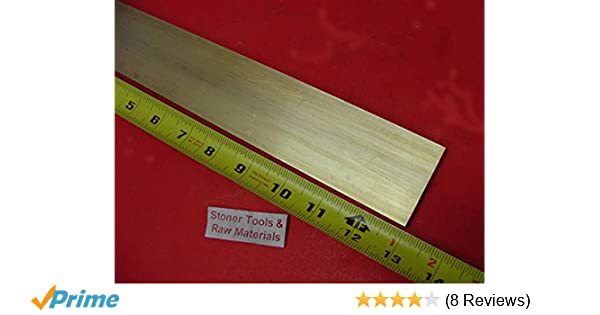 """1/"""" x 1/"""" C360 BRASS SQUARE BAR 8/"""" long Solid 1.00/"""" Flat Mill Stock H02"""