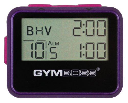Gymboss Interval Timer and Stopwatch - Violet/Pink Metallic Gloss