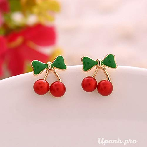 Vintage Sweet Cute Red Cherry Charm Bracelets for Women Small Coin Bead Beautiful Bracelet Girl