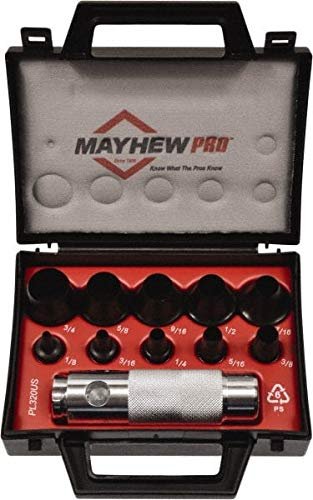 Mayhew - 11 Piece Hollow Punch Set - 1/8 to 3/4