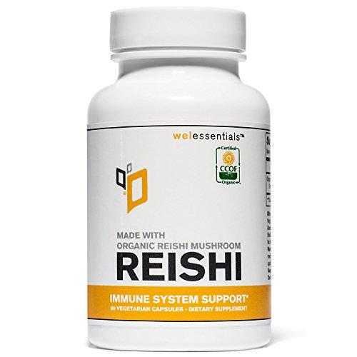 Organic Reishi Mushroom Extract (500mg Per Serving) (Vegetarian Capsules)