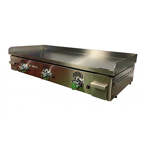 MAINHO-Plancha de cocina gas, acero, rectificado 100 x 43 x ...