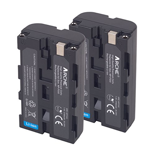 ARCHE NP-F550 Replacement Battery <2 Pack> for [Sony NP F970 F750 F770 F960 F550 F530 F330 F570 & CCD-RV100 RV200 SC55 SC5 SC9 TR1 TR516 TR716 TR818 TR940 TR917 Camera CN-160 CN-216 LED Video Light] by ARCHE