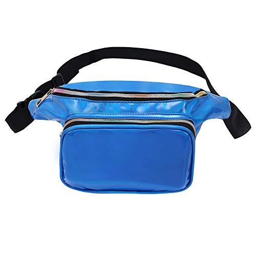 Holographic Fanny Pack Metallic 80s Waist Pack for Women and Men-Adjustable Running Belt Travel Hologram Purse Bag ()