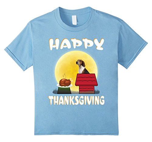 Toddler Hound Dog Costume (Kids Treeing Walker Coonhound Dog Costume Thanksgiving T-Shirt 8 Baby Blue)